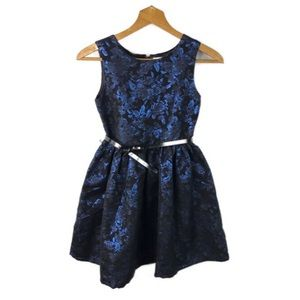 NWT The Children's Place Girls Blue Jacquard Dress